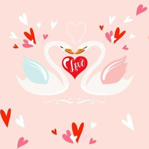 """7"""" Valentine Swans"""