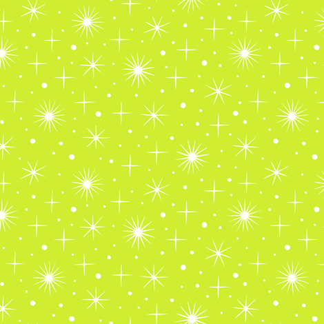 Northern light stars sky (bright green) fabric by heleen_vd_thillart on Spoonflower - custom fabric