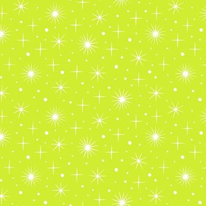 Northern light stars sky (bright green)