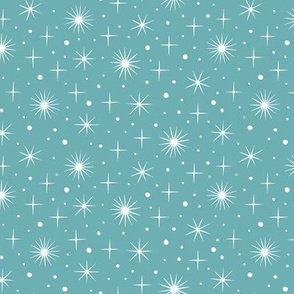 Northern light stars sky (blue)
