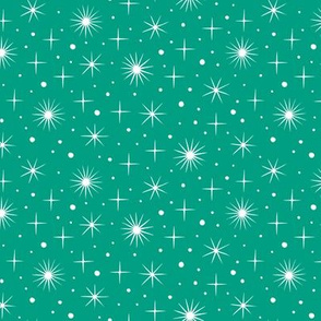 Norther light stars sky (teal)