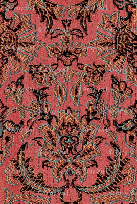 Persian Brocade Pompeii Red