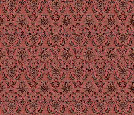 Persian Brocade Pompeii Red fabric by amyvail on Spoonflower - custom fabric