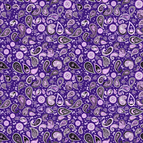 420 Hiphop Paisley Purple fabric by camomoto on Spoonflower - custom fabric
