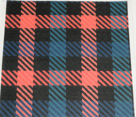 Black Peach and Teal Plaid