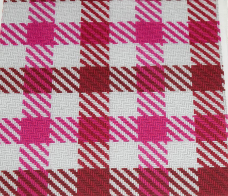 Cranberry and Pink Plaid