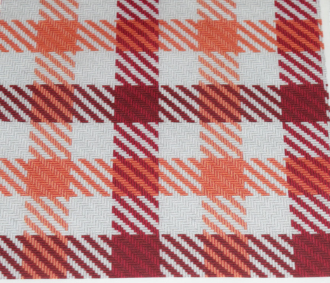 Cranberry and Peach Plaid