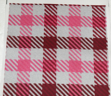 Cranberry and Hot Pink Plaid