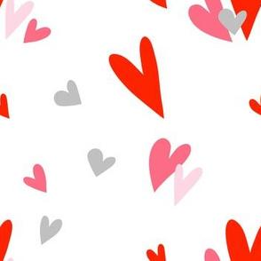 """7"""" Hearts Print / White"""