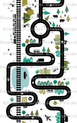 Road map 42'' (half size)
