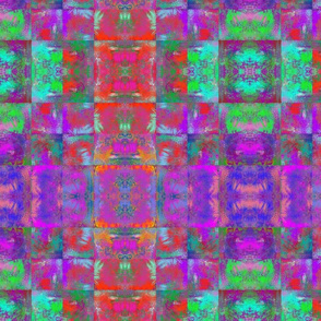 ABSTRACT INCA FUCHSIA PURPLE RED SQUARE GEOMETRIC