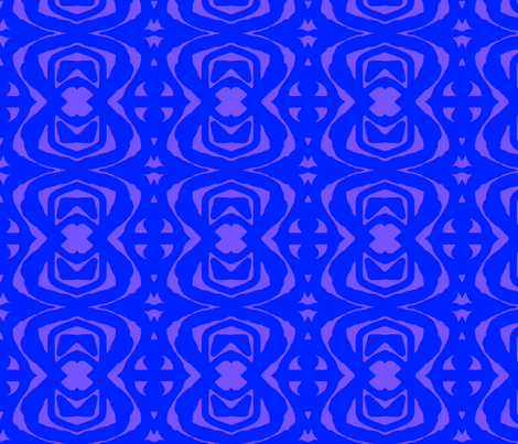 Blue Paper Cutout  fabric by robin_rice on Spoonflower - custom fabric