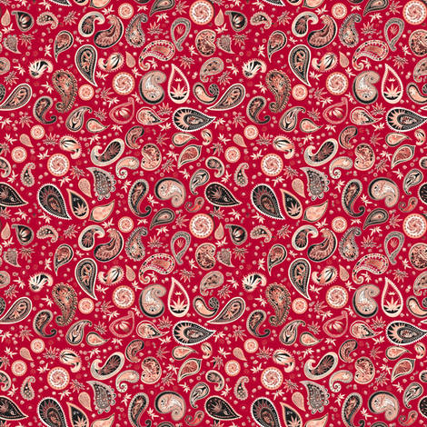 420HiphopPaisleyRed_ fabric by camomoto on Spoonflower - custom fabric