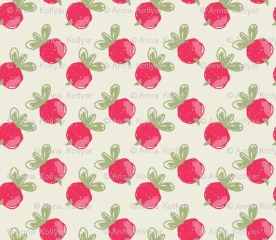 Rough sketched pink berries