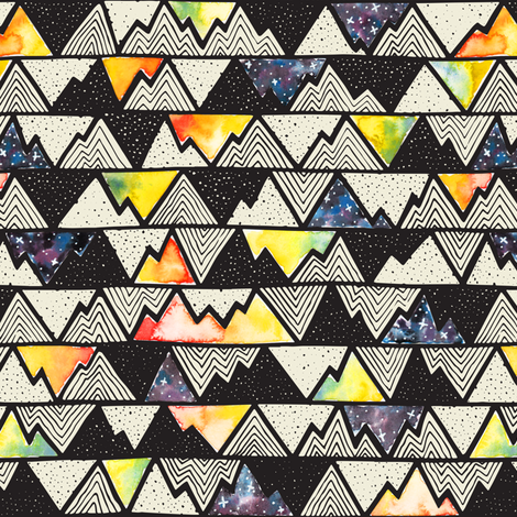 Cosmos – Mountains fabric by bexdsgn on Spoonflower - custom fabric
