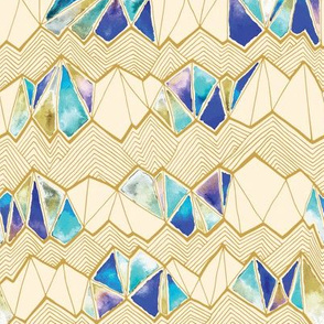 Mountain Stained Glass | Gold