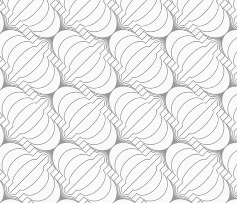 Slim gray diagonal merging Chinese lanterns fabric by zebra_finch on Spoonflower - custom fabric