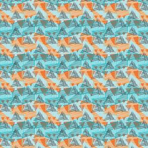 Striped triangles blue orange black
