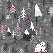 Rforest___mountainns_-_pink_purple_2x_linen_shop_thumb