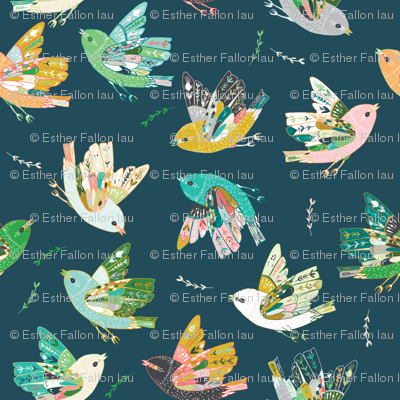 Ambrosia Folk Birds (midnight)
