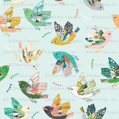 Ambrosia Folk Birds (blue)