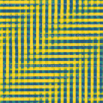 XL glitchy gingham - yellow, teal, navy