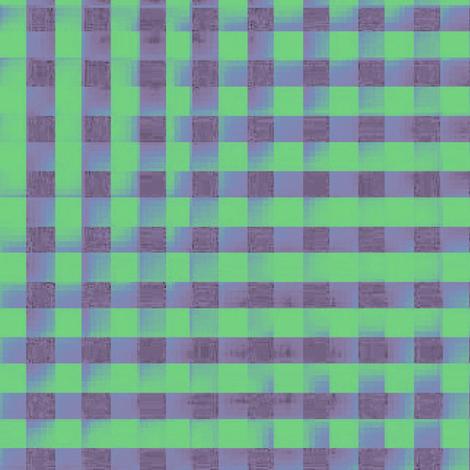 XL glitchy plaid - grey, green, blue fabric by weavingmajor on Spoonflower - custom fabric