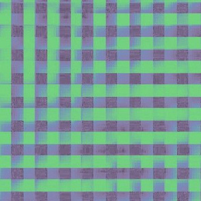 XL glitchy plaid - grey, green, blue