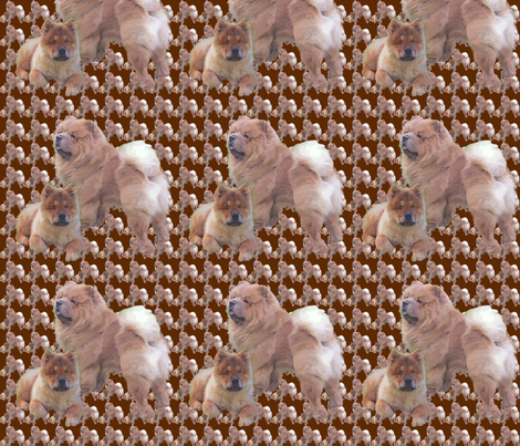 chow_chows fabric by dogdaze_ on Spoonflower - custom fabric