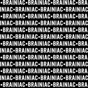 Brainiac Text | Black