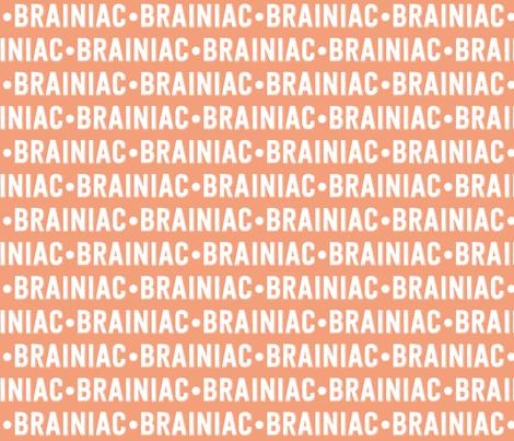 Brainiac Text | Dark Salmon fabric by handmadephd on Spoonflower - custom fabric