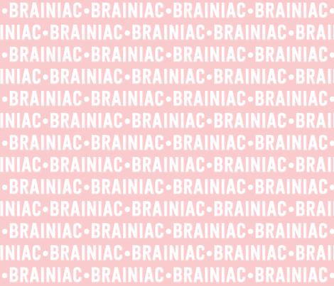 Brainiac Text | Provincial Pink fabric by handmadephd on Spoonflower - custom fabric