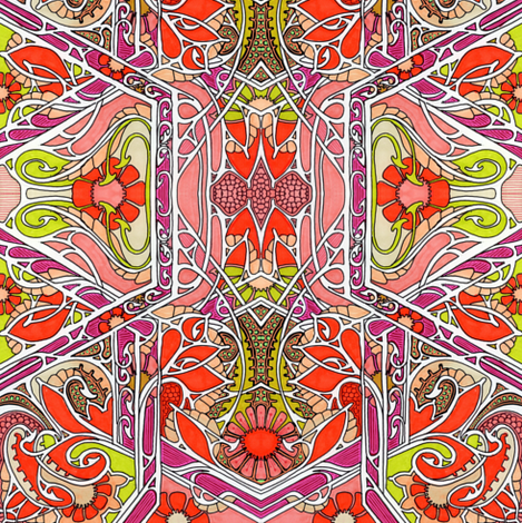 Art Nouveau's Sister Lives Here fabric by edsel2084 on Spoonflower - custom fabric
