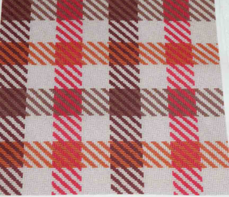 Asymmetric Plaid Browns and Red
