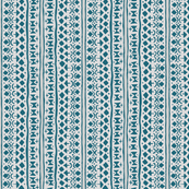 Ditsy Tribal Stripe Indigo on Stone