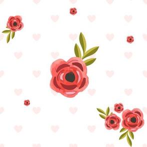 "9"" Hearts & Roses"