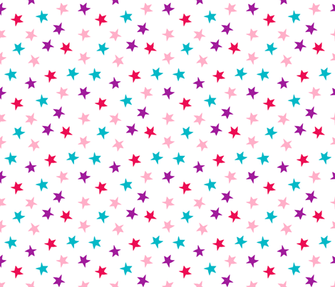 stars // pink purple turquoise stars fabric girls room decor cute star fabric fabric by andrea_lauren on Spoonflower - custom fabric