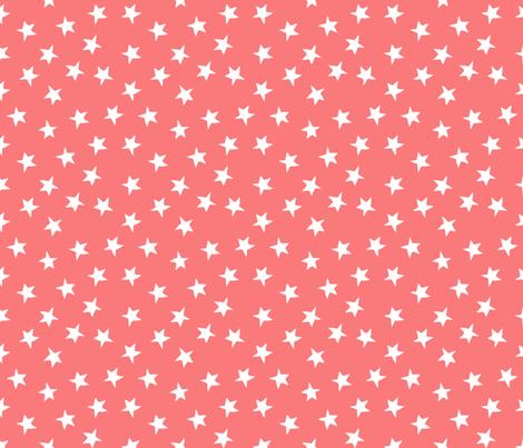 stars // mermaid stars fabric coral star design star nursery baby cute girls fabric fabric by andrea_lauren on Spoonflower - custom fabric