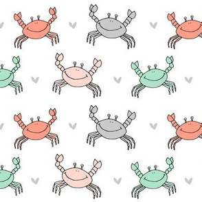 dancing crab // sea creatures andrea lauren ocean animals best nautical summer fabric