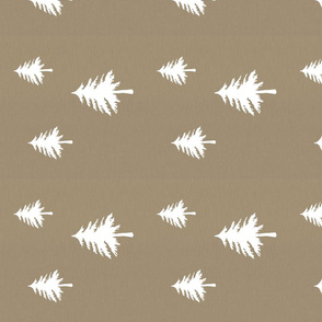 Linen Tan Trees Rotated