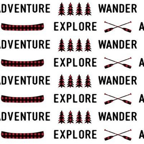 Adventure. Explore. Wander || plaid