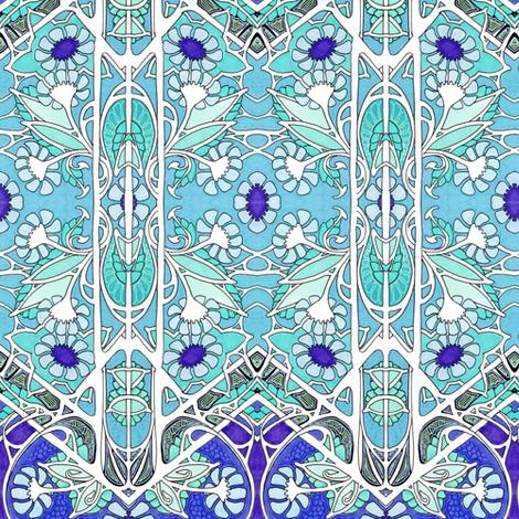 Spring 1922 Blues fabric by edsel2084 on Spoonflower - custom fabric