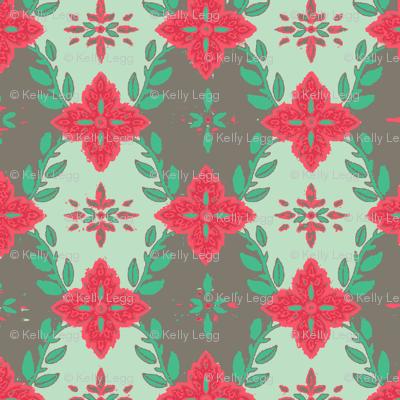 #SAGE Christmas Poinsettia Garland