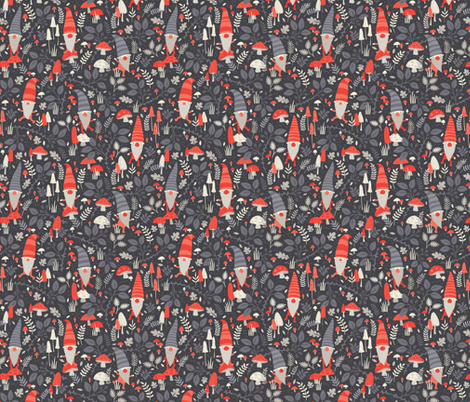 Nordic gnomes small // by petite circus fabric by petite_circus on Spoonflower - custom fabric