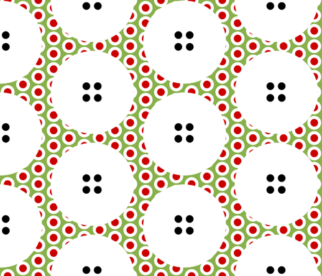 LARGE Button Polka Dots on a Riot on Greenery by Su_G fabric by su_g on Spoonflower - custom fabric