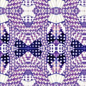 Bright Zentangle #2 - Purple