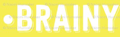 Brainy Text | Yellow