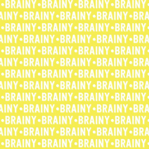 Brainy Text | Yellow