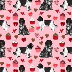 newf fabric, newfoundland dog pink dog fabric valentines love valentines day fabric