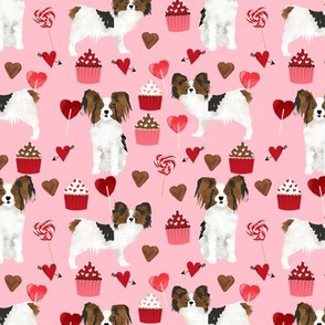 papillon, dog pink dog fabric valentines love valentines day fabric